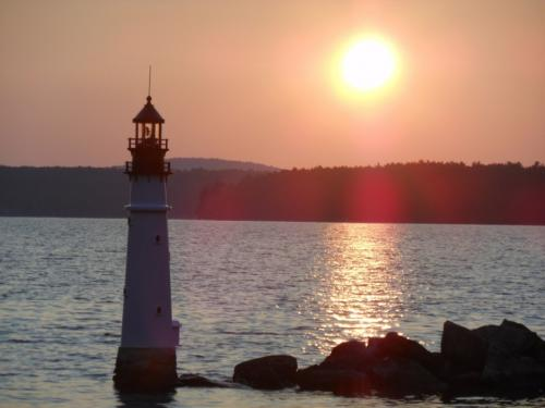 New lighthouse at sunset
